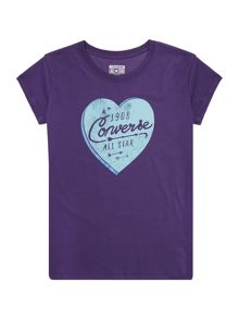 Converse Girls Heart Graphic T-shirt