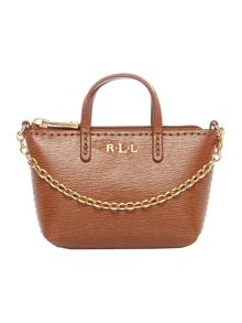 Lauren Ralph Lauren Newbury tan mini bag charm