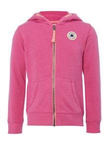 Converse Girls Zip Through Hooded Sweater