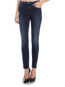 High rise skinny jean in blue crush stretch