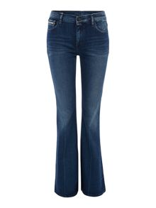 Calvin Klein Stretch flare jean in sassoon blue