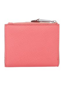 Lauren Ralph Lauren Charleston pink medium tab zip-around purse