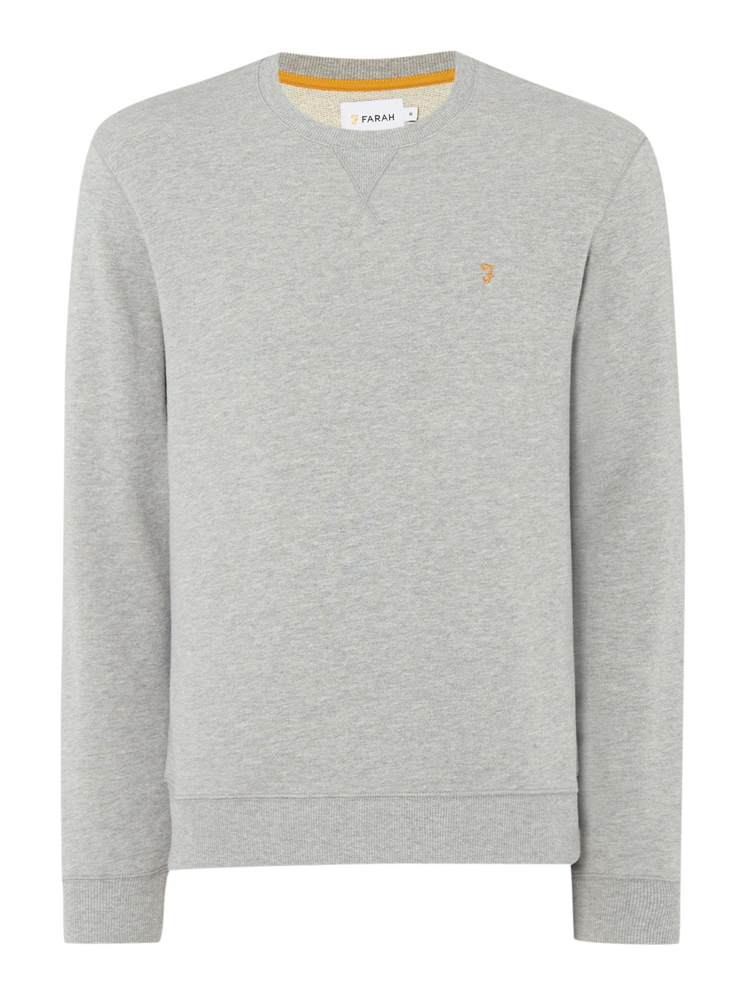 Men's Farah Bernard regular fit loopback crew neck sweat, Grey