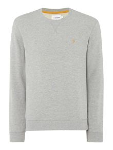 Farah Bernard regular fit loopback crew neck sweat