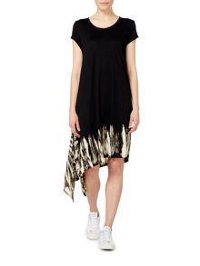 Label Lab Tie dye hem asymmetric dress