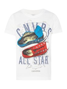 Converse Boys Sneaker Sketch Graphic T-shirt