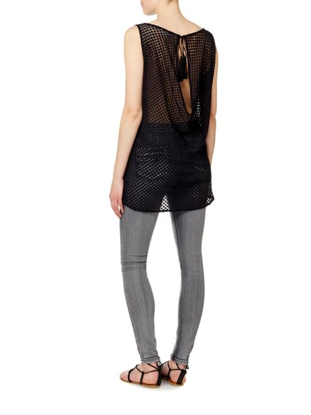 Label Lab Lace back sleeveless top