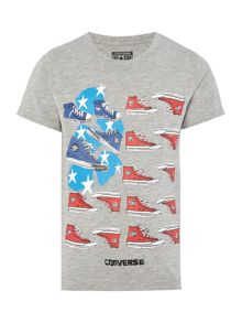 Converse Boys Stripe Sneaker Graphic T-shirt