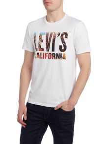 Levi's Regular fit floral logo printed t shirt