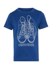 Converse Boys Sketched Sneaker Graphic T-shirt