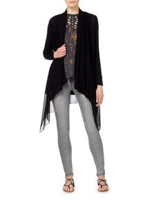Label Lab Lightweight cardi with chiffon hem