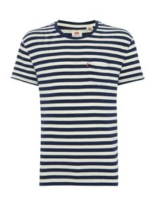 Regular fit 1 pocket stripe t shirt