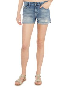 Calvin Klein Mid wash denim cut off short