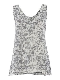 Abelone Print Layered Top