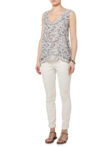 Gray & Willow Abelone Print Layered Top