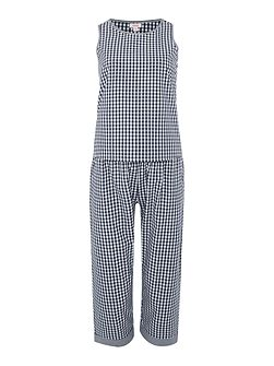 Gingham Crop Trouser Set