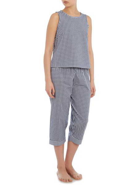 Therapy Gingham Crop Trouser Set