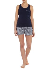 Therapy Stripe gingham trim short set