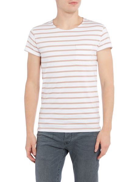 Selected Homme Stroke Open-Neck Tee