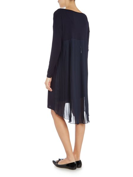 Gray & Willow Daphne pleat back jersey and woven dress