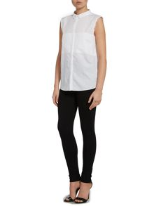 Calvin Klein Evita sleeveless panel shirt