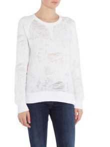Calvin Klein Janx burn out sweater