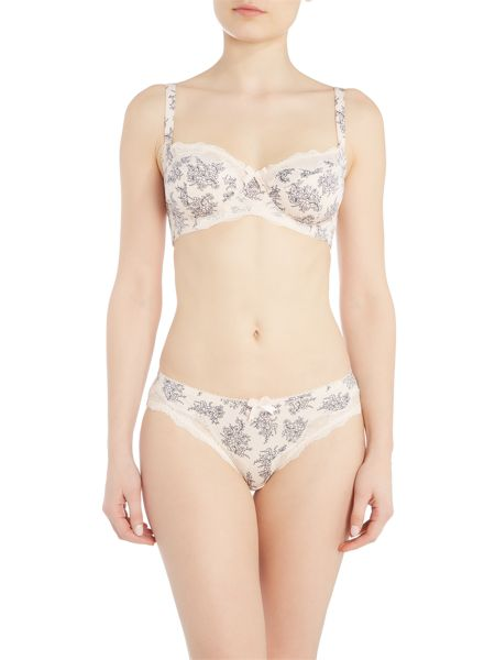 Marie Meili Curves margot floral lace wire bra