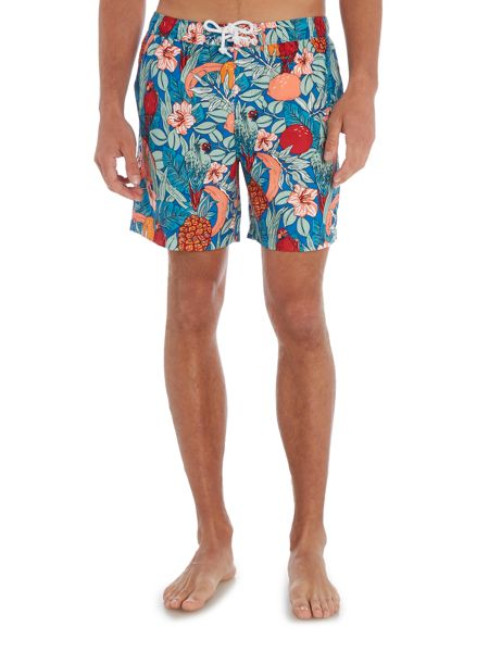 Original Penguin Shanty floral print Swim Shorts