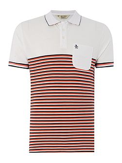 Ryda stripe short sleeve polo shirt
