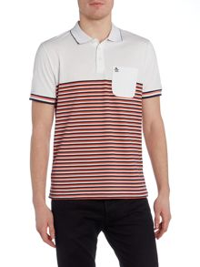 Original Penguin Ryda stripe short sleeve polo shirt
