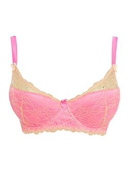 Tease me padded lace plunge bra