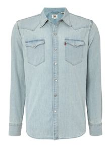 Levi's Slim fit barstow western denim long sleeve shirt