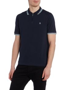 Original Penguin Lynks zip front polo shirt
