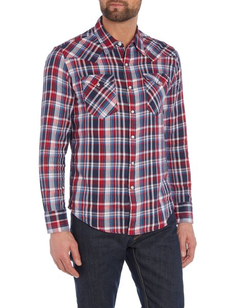 Levi's Slim fit barstow western check long sleeve shirt
