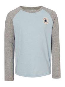 Boys Raglan Small Logo T-shirt