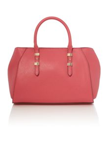 Guess Gigi pink box tote crossbody bag