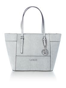 Guess Delaney multi python tote shoulder bag