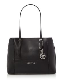 Guess Delaney black medium tote shoulder bag