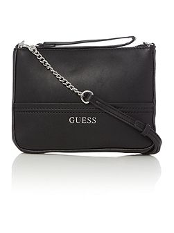 Guess Delaney black petite crossbody clutch bag