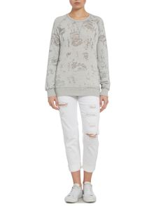 Calvin Klein Burn out janx sweatshirt