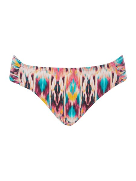 Kenneth Cole Ikat halter sash hipster bikini bottom