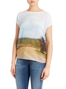 Oui Ocean Road Printed T-Shirt