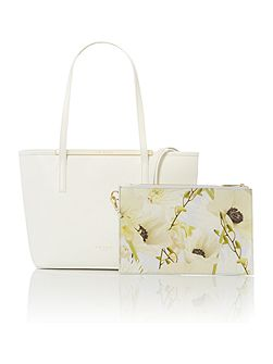 Leane white small tote bag