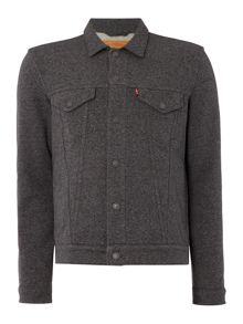 Levi's French terry cotton trucker jacket