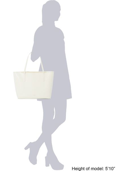Ted Baker Arena white large tote bag