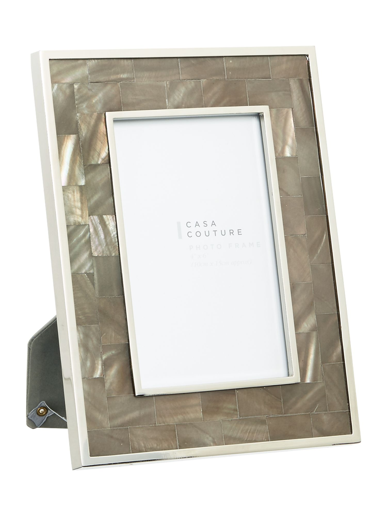 Casa Couture Casa Couture Grey Mother of pearl frame 4 x 6