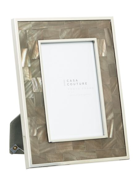 Casa Couture Grey Mother of pearl frame 4 x 6