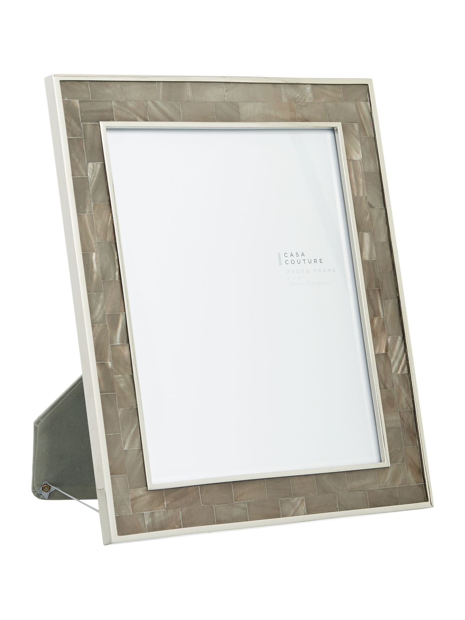 Casa Couture Casa Couture Grey Mother of pearl frame 8x10