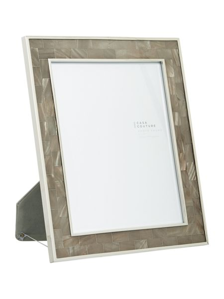 Casa Couture Grey Mother of pearl frame 8x10