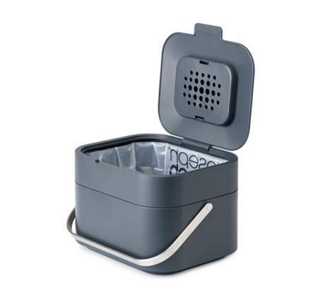 Joseph Joseph Stack 4L Intelligent Waste Compost Caddy Graphite